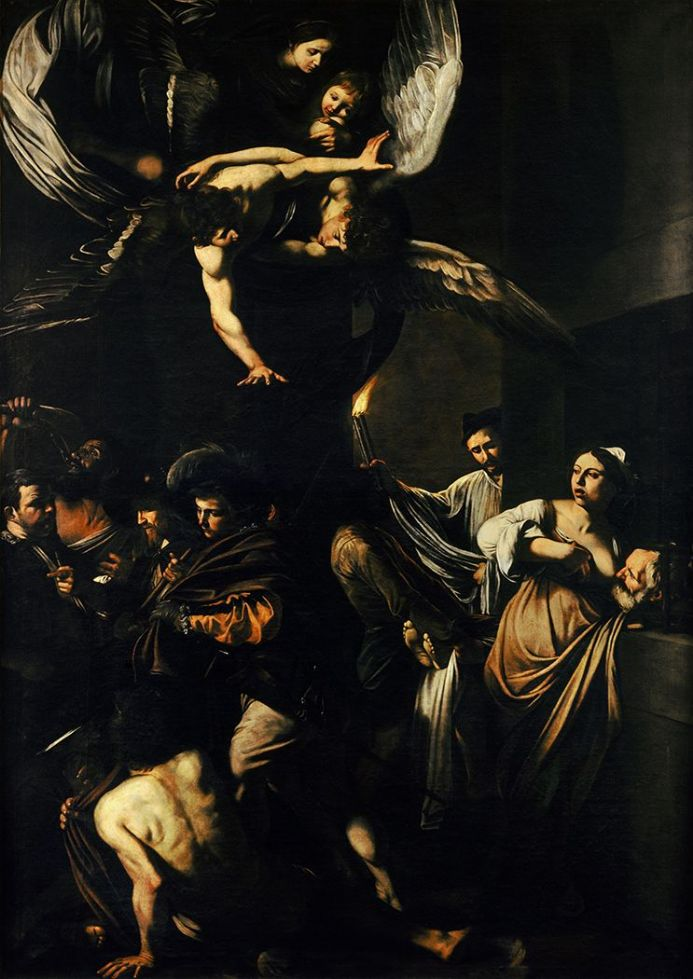 Caravaggio, Michelangelo Merisi da: The Seven Works of Mercy. Fine Art Print.  (002066)